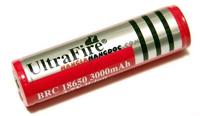 Pin sạc Ultra Fire Li-ion 3.7 Volt 3.000 - 4.200mAh