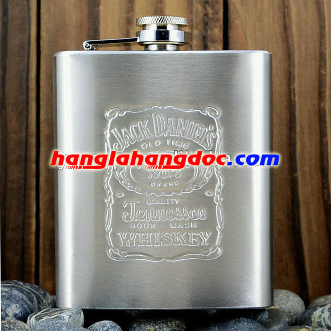 Bình bi-đông mini Hip Flask 7 ounce, Jack Daniels logo (207ml)
