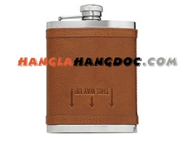 Bình inox Hip Flask bọc da 7 ounces (207ml)