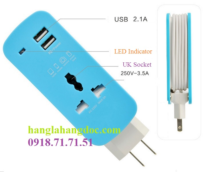 O cam da nang du lich co cong usb travel adapter gia re - 19