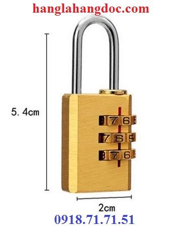 Ổ khóa số balo, vali, hành lý; dây khóa mã số Tonyon thép sợi chống cắt, giá rẻ - 14