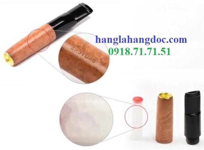 Tẩu hút thuốc lá điếu khử độc Denicotea 20243 Đức gỗ thạch nam cao cấp - 3