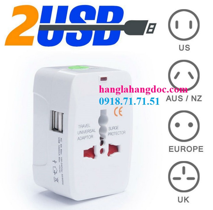 O cam da nang du lich co cong usb travel adapter gia re - 16