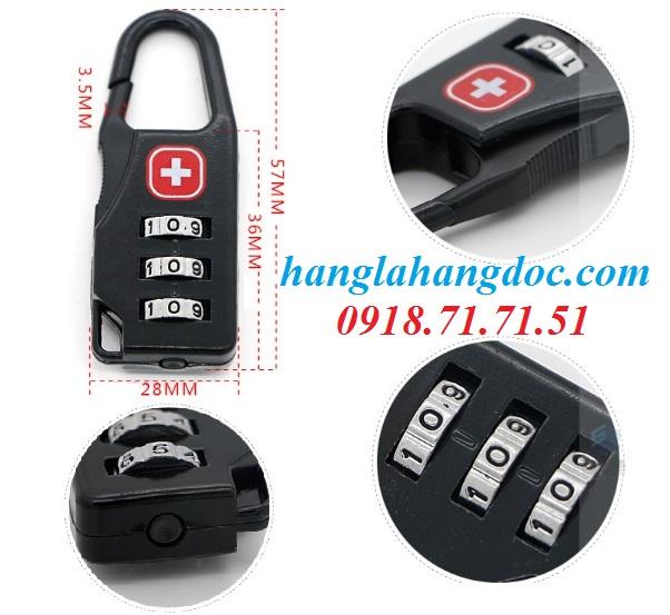 Ổ khóa số balo, vali, hành lý; dây khóa mã số Tonyon thép sợi chống cắt, giá rẻ - 6