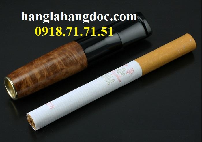 Tẩu hút thuốc lá điếu khử độc Denicotea 20243 Đức gỗ thạch nam cao cấp - 2