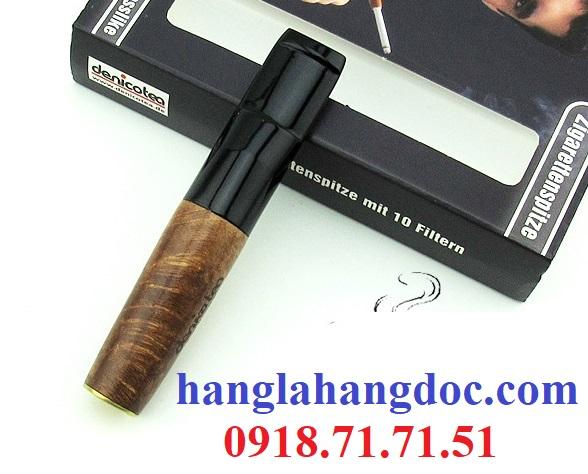 Tẩu hút thuốc lá điếu khử độc Denicotea 20243 Đức gỗ thạch nam cao cấp - 12