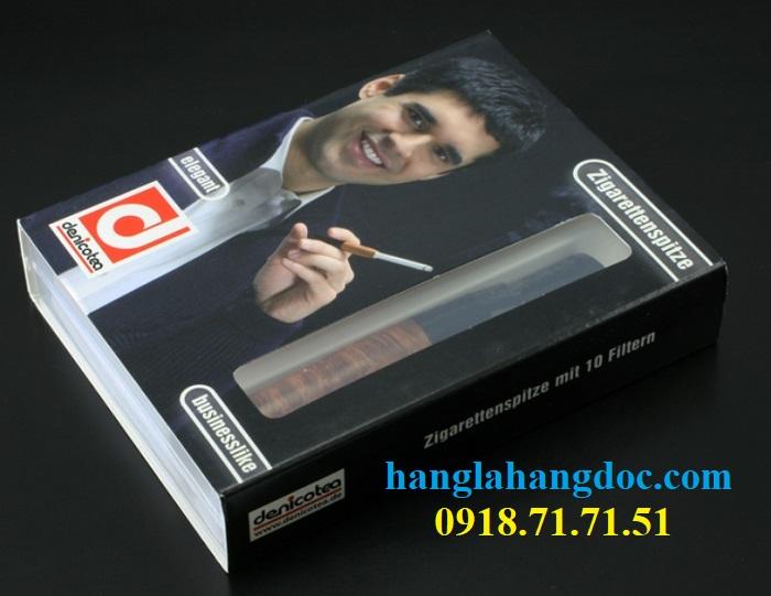Tẩu hút thuốc lá điếu khử độc Denicotea 20243 Đức gỗ thạch nam cao cấp - 14